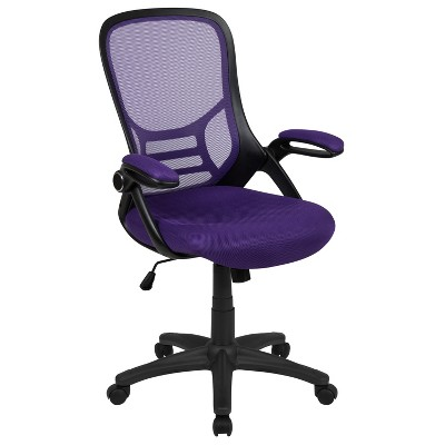 Flash Furniture High Back Mesh Ergonomic Swivel Office Chair with Flip-up Arms