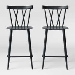 Set of 2 Becket Metal X Back Counter Stool - Project 62™
