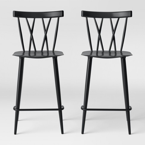 Set of 2 Becket Metal X Back Counter Stool - Project 62™ - image 1 of 5