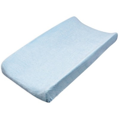 Honest Baby Organic Cotton Baby Terry Changing Pad Cover - Light Blue