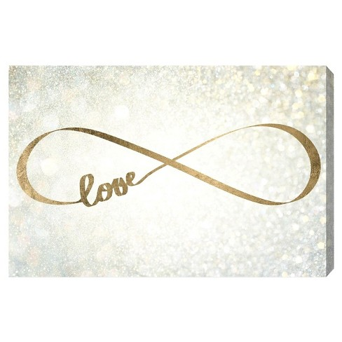 "Oliver Gal Unframed Wall ""Sparkle Love"" Canvas Art - image 1 of 2"