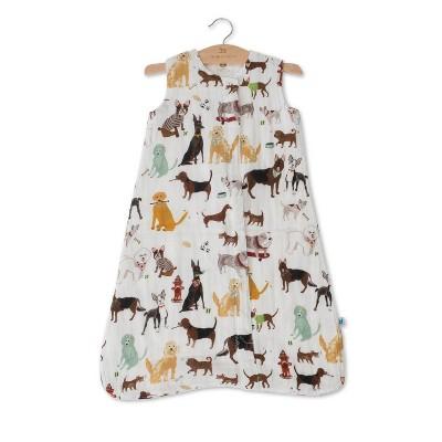 Little Unicorn 100% Cotton Muslin Sleep Bag Swaddle Wrap - Woof
