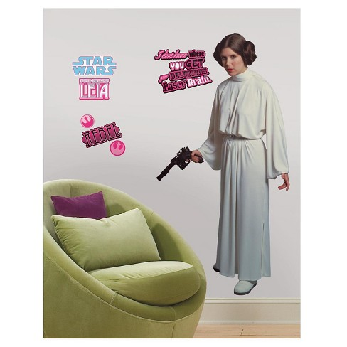 RoomMates Star Wars Classic Leia Peel & Stick Giant Wall Decal - image 1 of 2