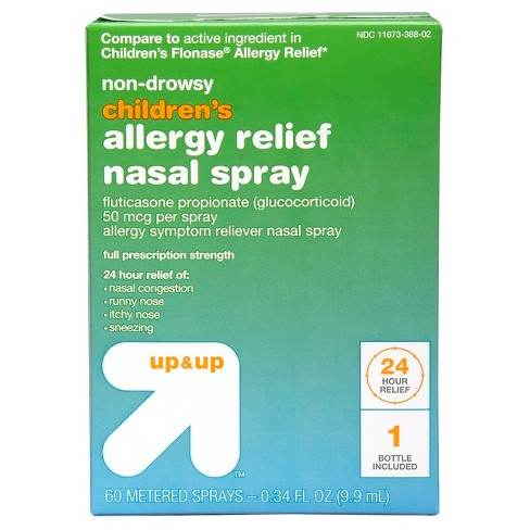 Children's Fluticasone Propionate Allergy Relief 60 spray 0.34oz - Up&Up™ (Compare to active ingredient in Children's Flonase Allergy Relief) - image 1 of 4