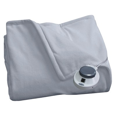 SoftHeat™ Micro Fleece Warming Blanket - Slate Blue (Queen)