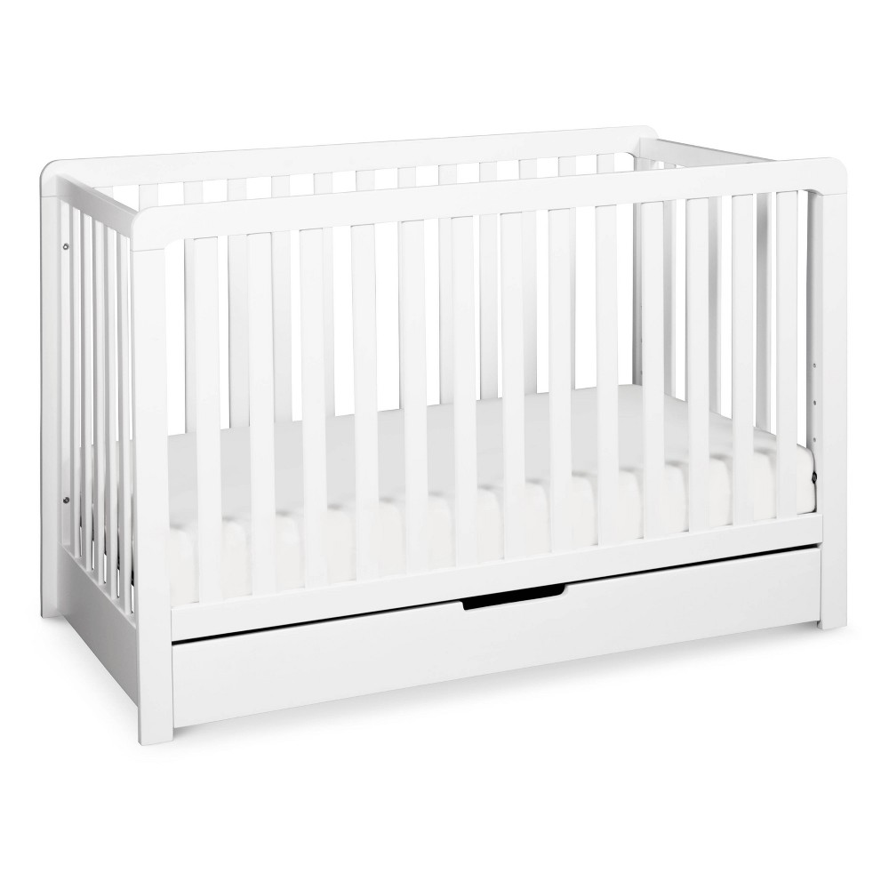 Image of Carter's by DaVinci Colby 4-in-1 Convertible Crib with Trundle Drawer - White