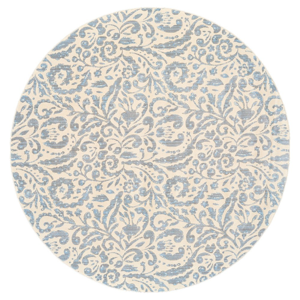 8 39 6 34 Round Paisley Loomed Round Area Rugs Mist Weave 38 Wander