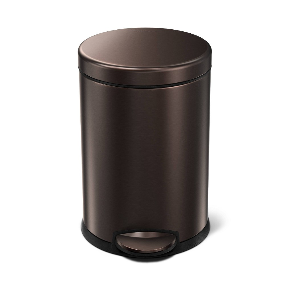 Image of 4.5L Round Step Can Bronze - Simplehuman