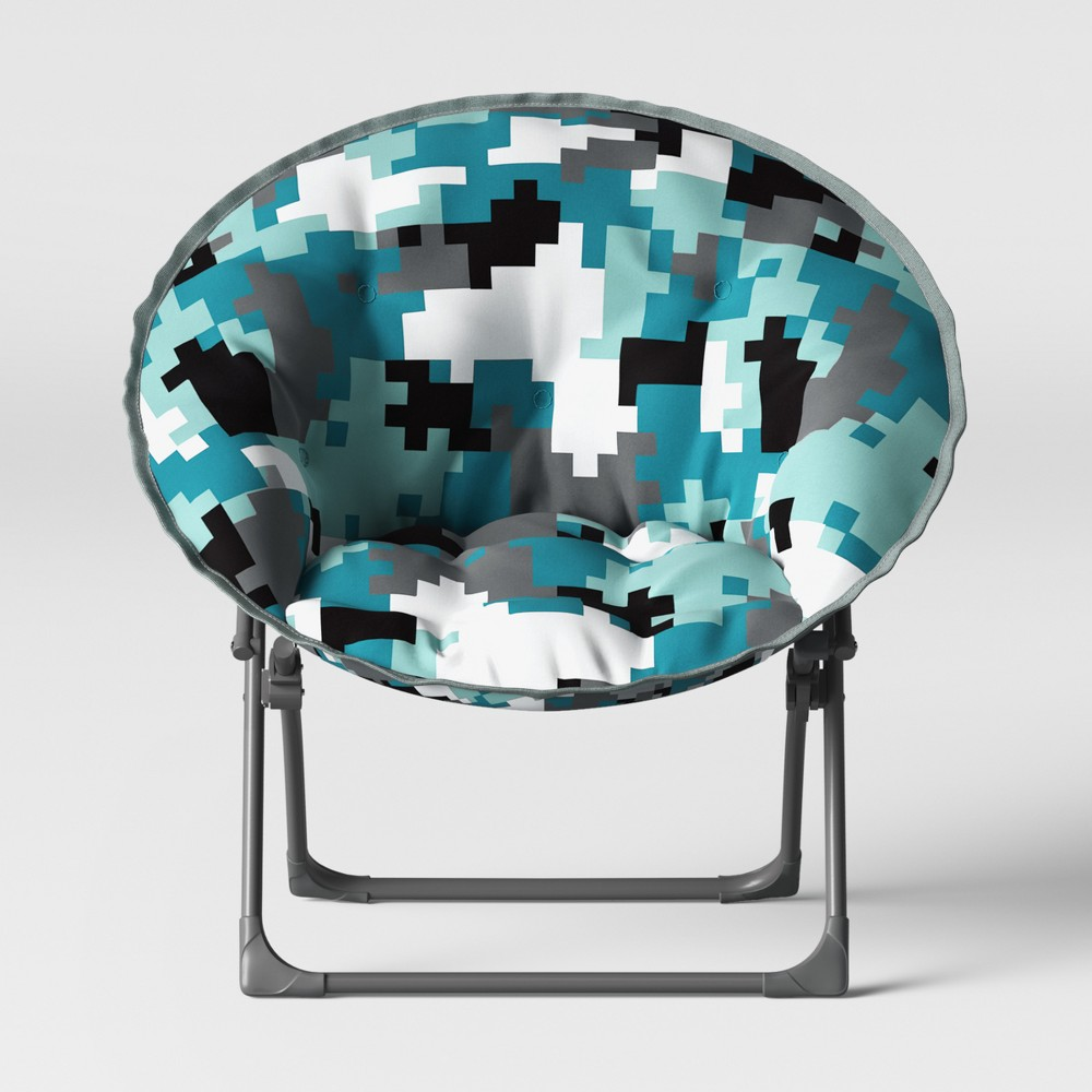 Kids Dish Chair Camo Print - Pillowfort, Multi-Colored