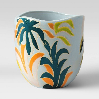 "8"" Earthenware Planter Floral - Opalhouse™"