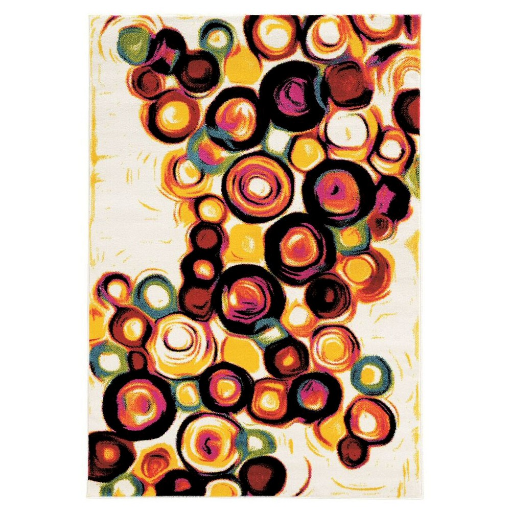 Masters MR02 Candy Area Rug - White (5' X 7'6)