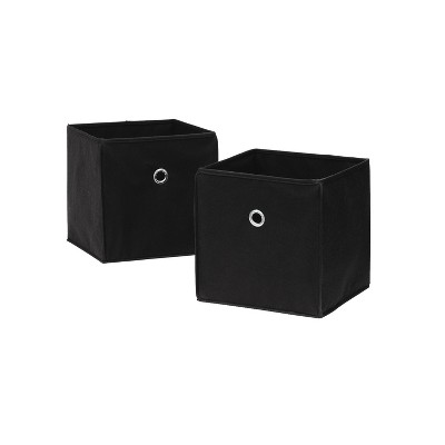 Neu Home Non Woven Drawers Set Of 2 Black