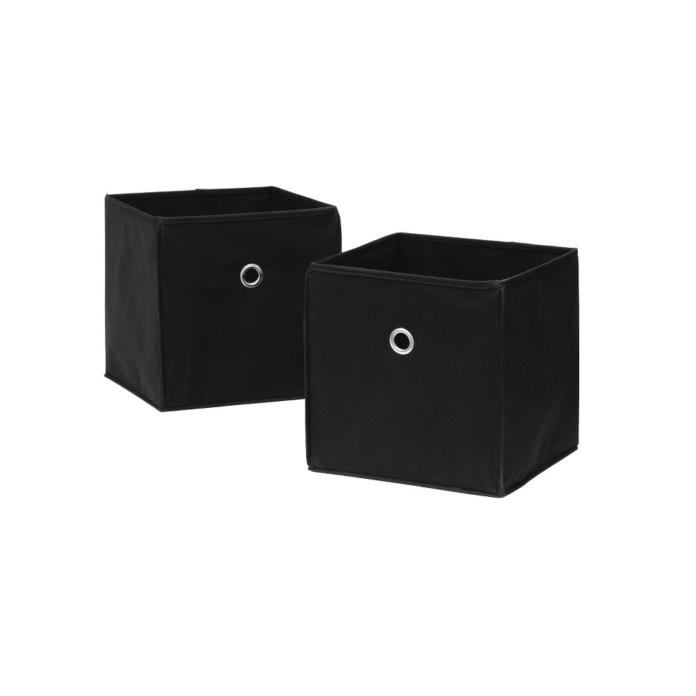 Image of Neu Home Non Woven Drawers Set Of 2 Black