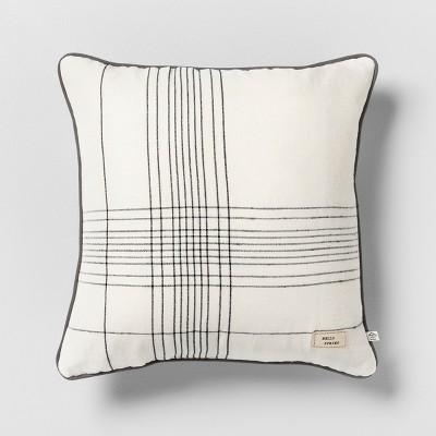 Hello Spring Striped Reversible Throw Pillow Cream / Green / Gray - Hearth & Hand™ with Magnolia