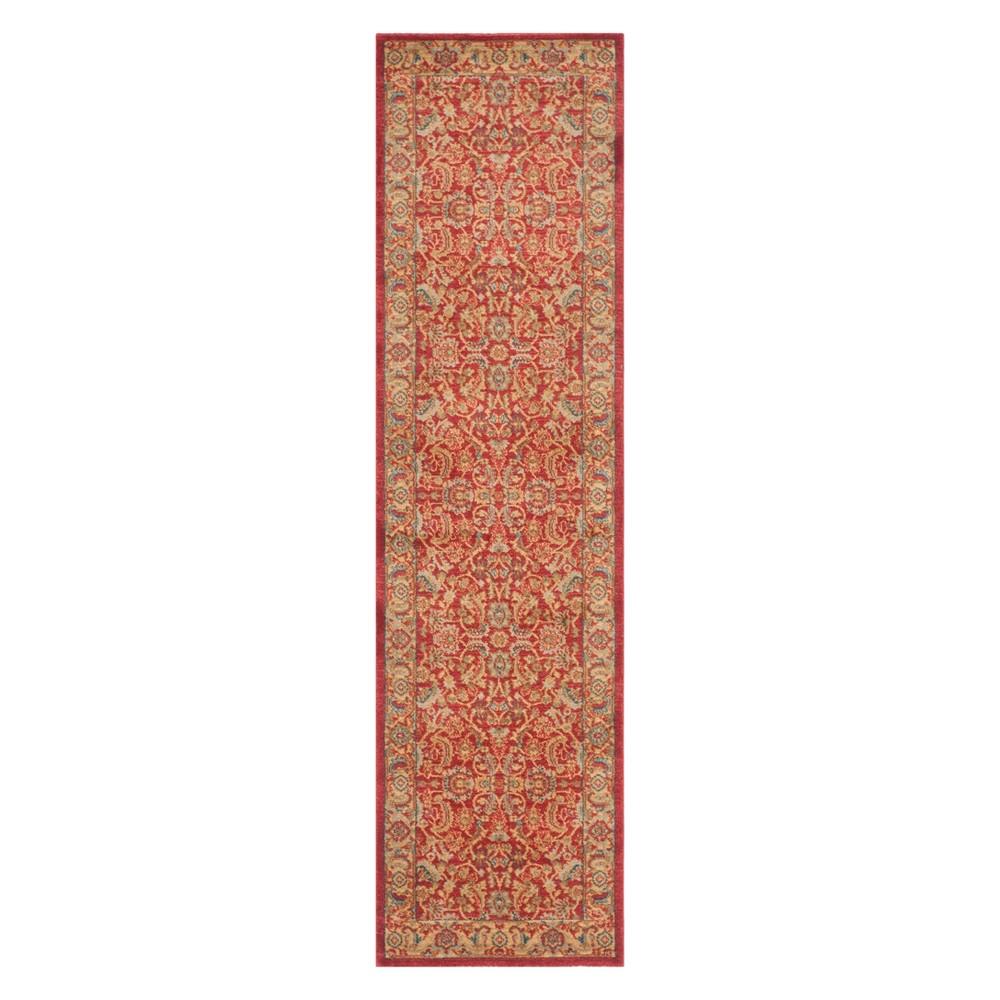 22X14 Floral Runner Red/Natural - Safavieh Buy