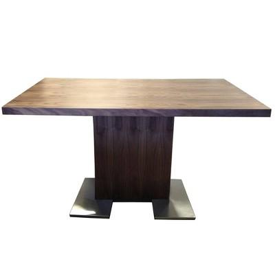 Lukin Dining Table Walnut/Steel - Modern Home