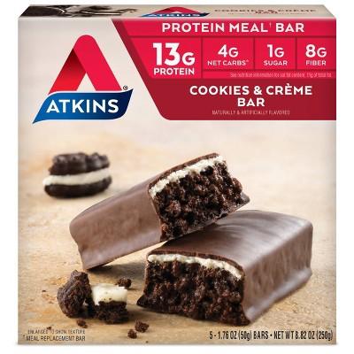 Atkins Nutrition Bars - Cookies & Cream - 5ct