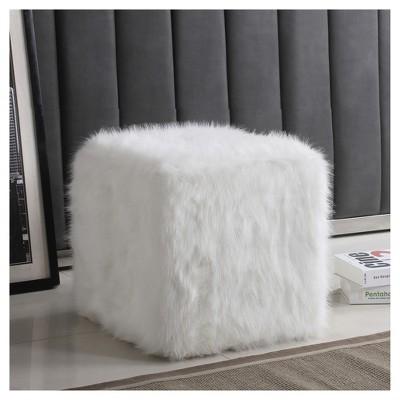Faux Fur Pouf - HomePop