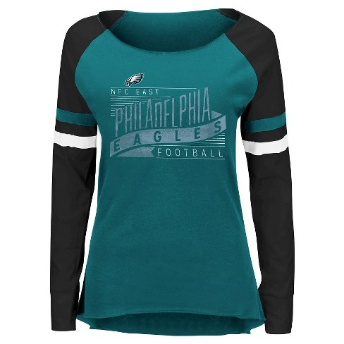 c793ff8db Philadelphia Eagles Women s Long Sleeve Raglan Baseball T-Shirt XL   Target