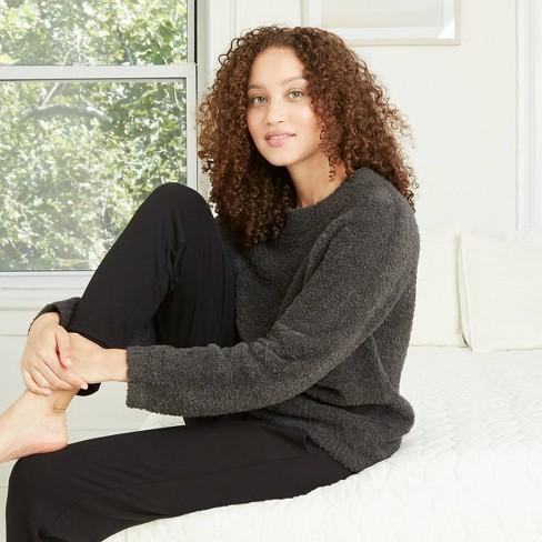 Women's Cozy Plush Chenille Sleep Pullover Sweater - Stars Above™ - image 1 of 2