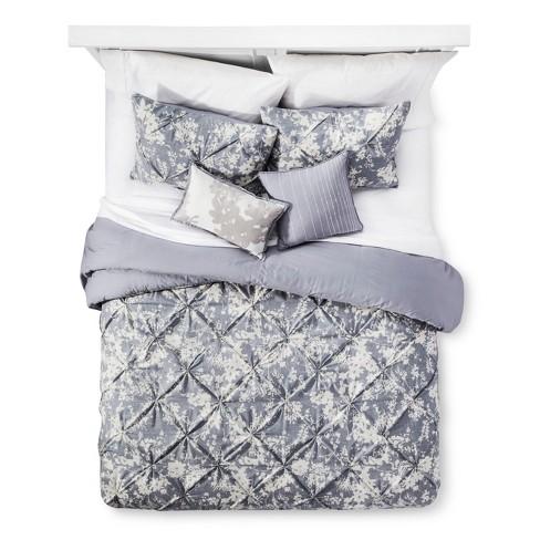 Gray Natalie Cotton Multiple Piece Comforter Set 5pc