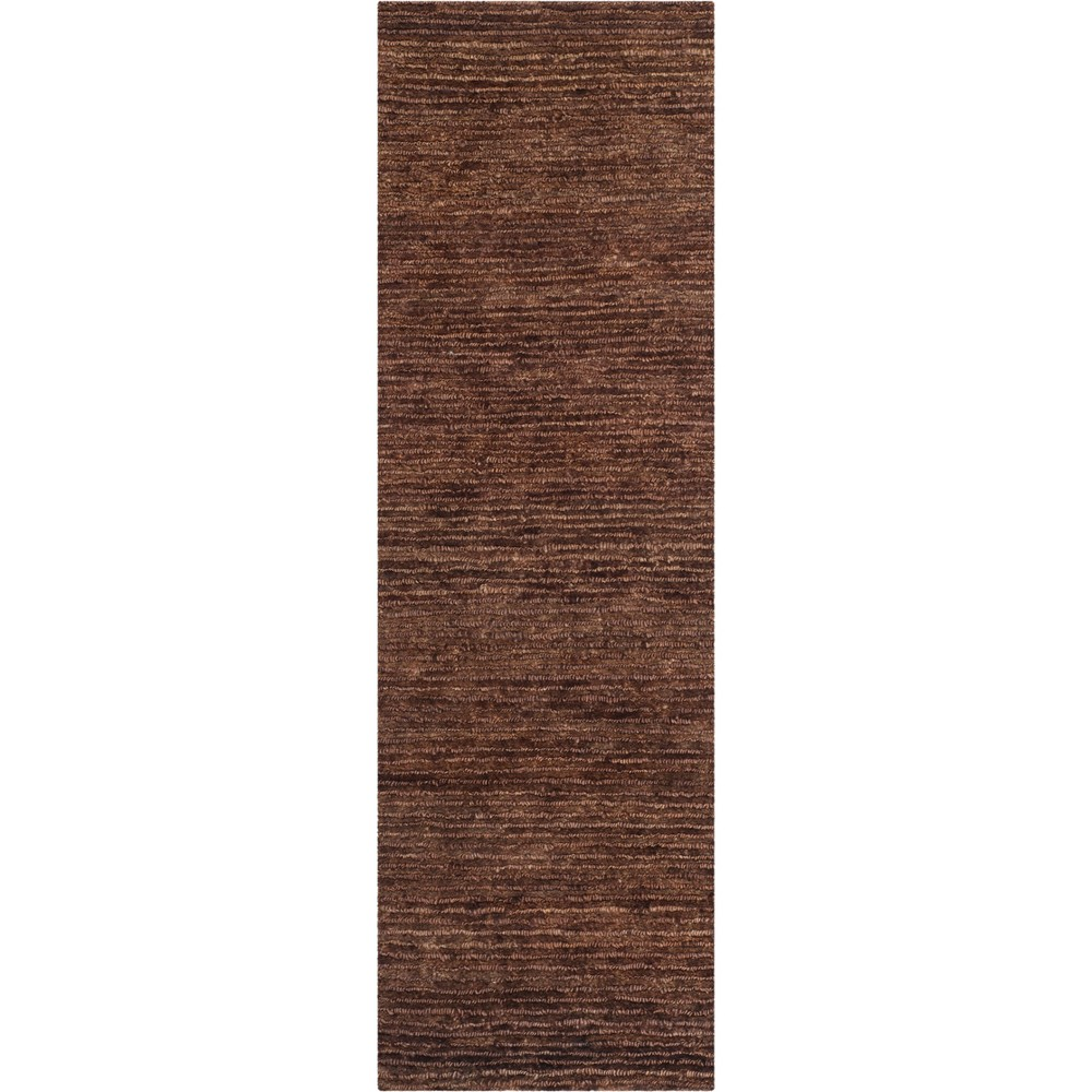 2'6X10' Solid Knotted Runner Brown - Safavieh