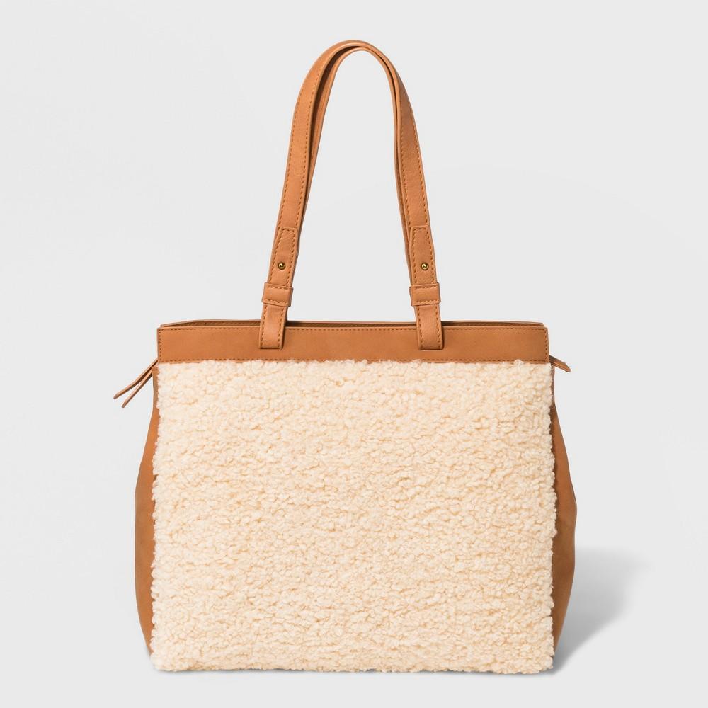 Boxy Tote Handbag - Universal Thread Cream (Ivory), Women's, Size: Large