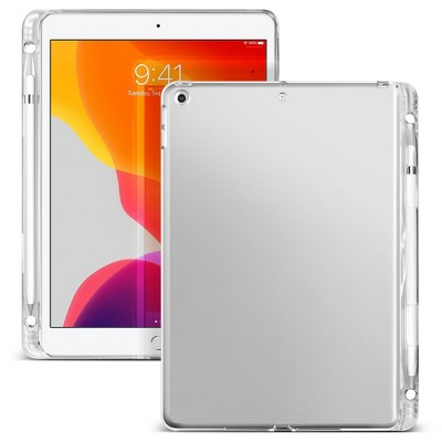 "Insten - Soft Transparent TPU Tablet Case For iPad 8th Gen 10.2"" 2020, with Pencil Holder, Shock Resistant, Slim Fit, Clear"