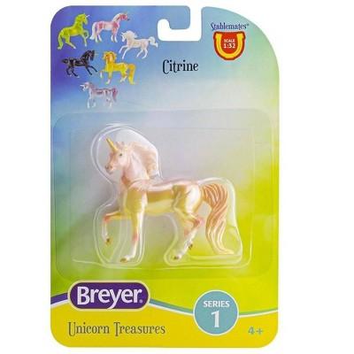 Breyer Animal Creations Breyer Unicorn Treasures 1:32 Scale Model Horse   Citrine