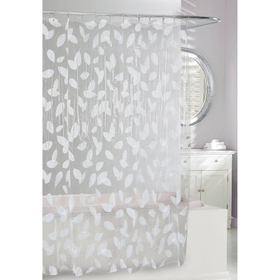 Harvest Leaf Shower Curtain White/Clear - Moda at Home