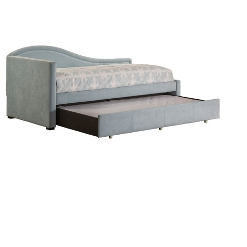Olivia Upholstered Daybed with Trundle Twin - Spa - Hillsdale Furniture - image 1 of 3