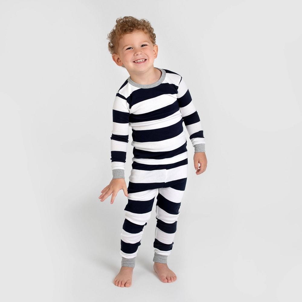 Burt 39 S Bees Baby 174 Toddler Striped Organic Cotton Pajama Set Blue 6
