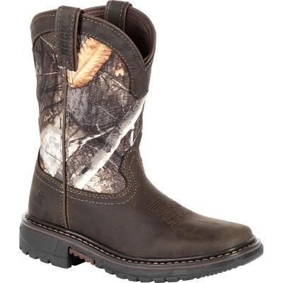 Rocky Ride FLX Toddler Boys' Camo Waterproof Western Boot