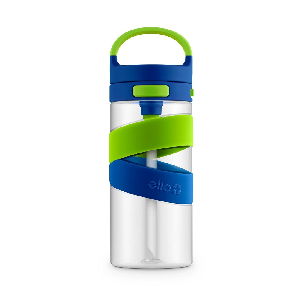 Image of 18oz Plastic Harlow Tritan Water Bottle Blue/Green - Ello