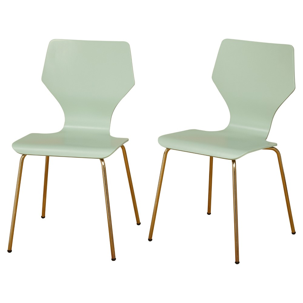 Image of Enna Dining Chairs (Set of 2) - Mint - Angelo:Home, Green