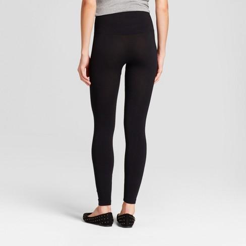afdd5fbe1d5c3 Women's High Waist Cotton Blend Seamless Leggings - A New Day™ Black :  Target