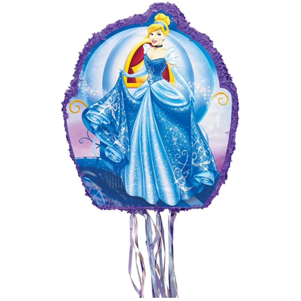 Image of Disney Cinderella Drum Pull String Pinata Kit