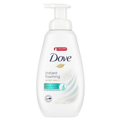 Dove Sensitive Skin Sulfate-Free Shower Foam Body Wash - 13.5 fl oz