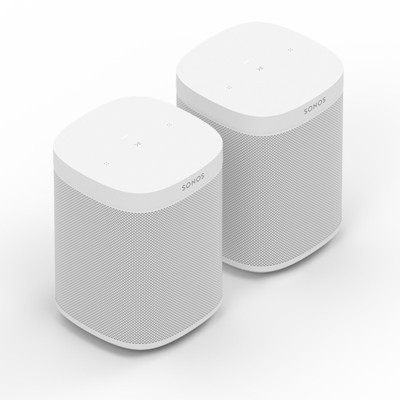 Sonos Two Room Set with One SL Wireless Streaming Speaker (White)