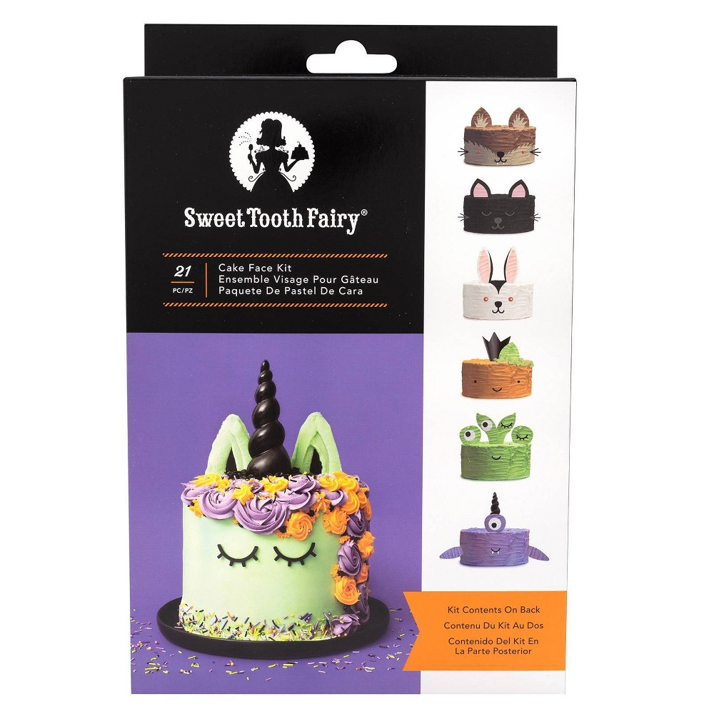 Image of Sweet Tooth Fairy Cake Toppers - Black