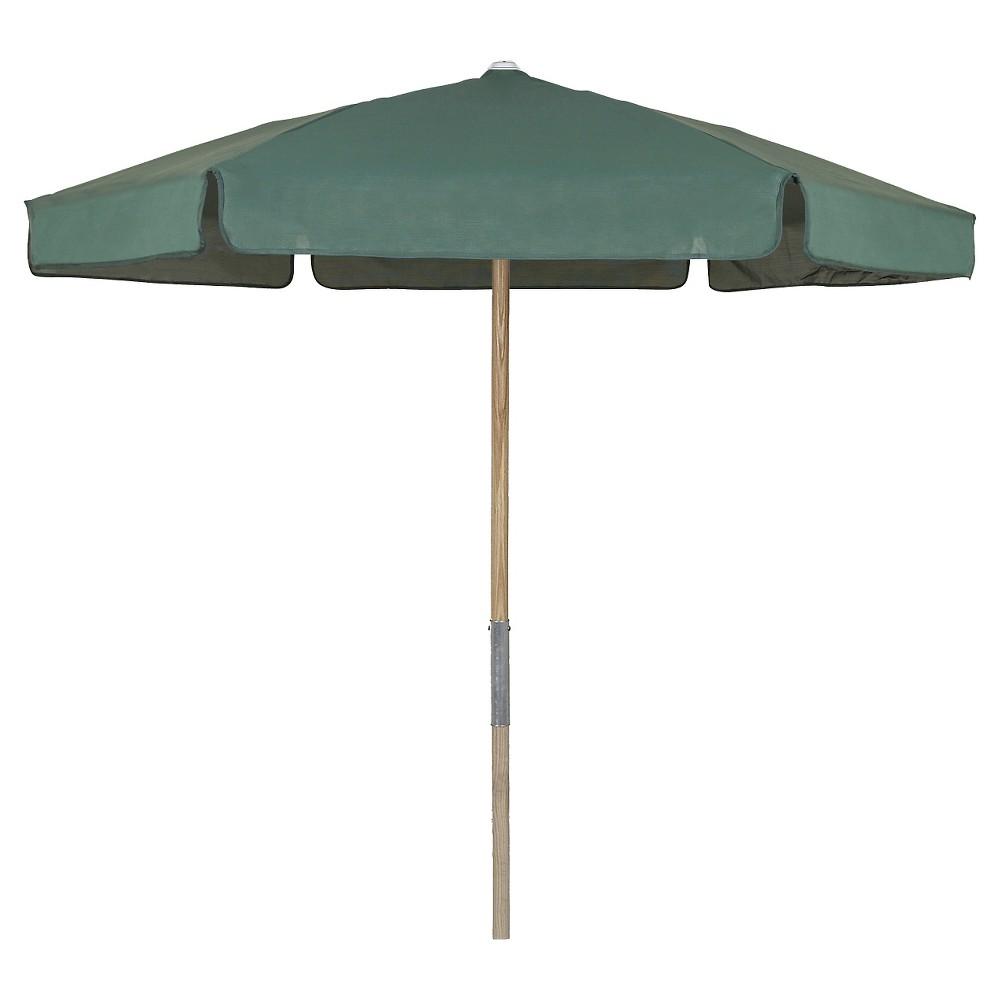 Image of FiberBuilt 7.5' Patio Beach Umbrella Spun Acrylic Forest Green