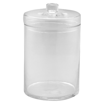 Diamond Star Glass Apothecary Jar with Lid Clear (12.5 x8 )