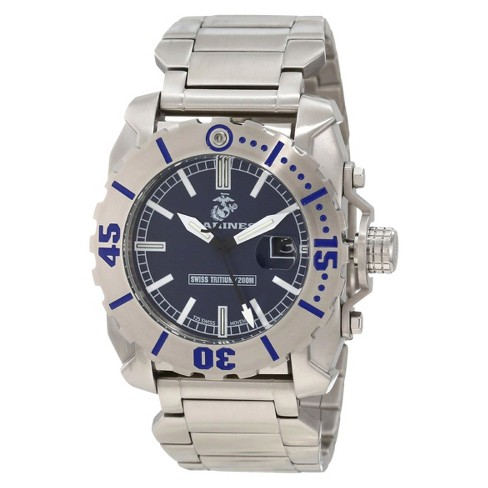 Men's' Wrist Armor U.S. Marine Corps C2 Swiss Quartz Tritium Watch - Blue - image 1 of 5