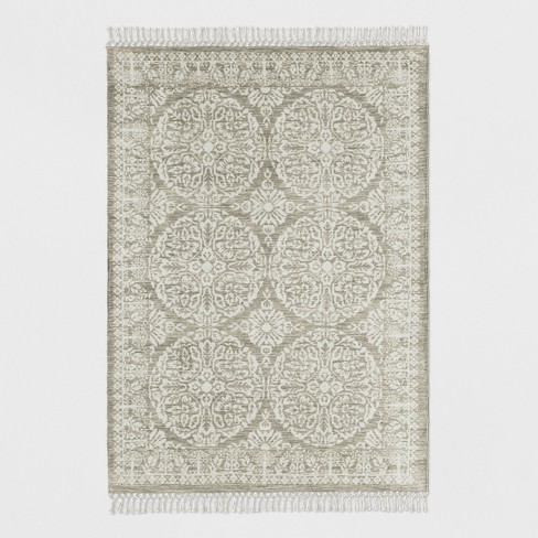 Tan Patterned Woven Area Rug Threshold Target