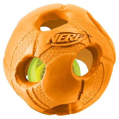 NERF® Led Bash Ball Pet Toy - Orange - 3.5''