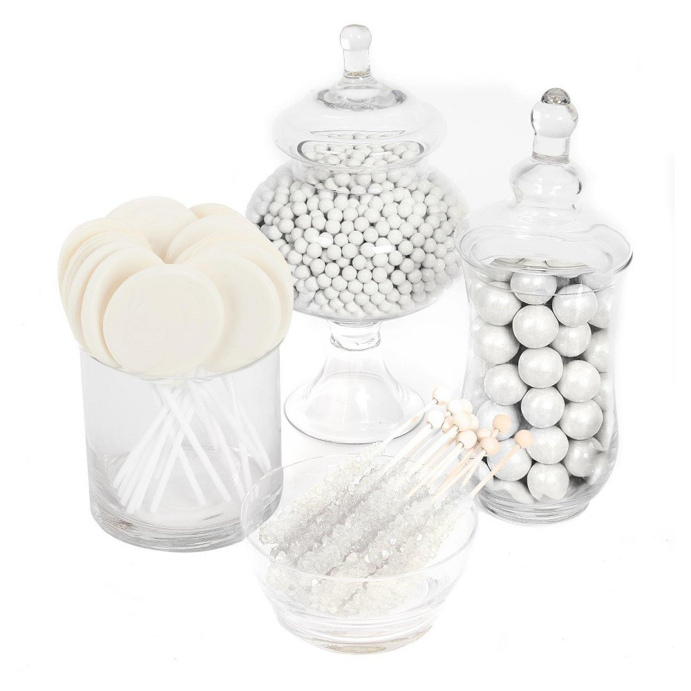 White Basic Candy Kit, Candy and Chocolate Variety Packs