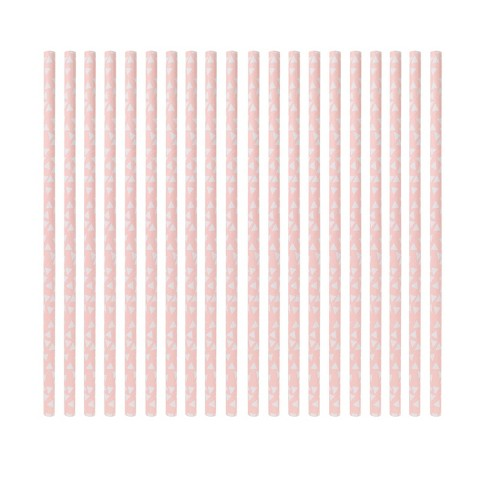20ct Light Pink Paper Straw - Spritz™ - image 1 of 2