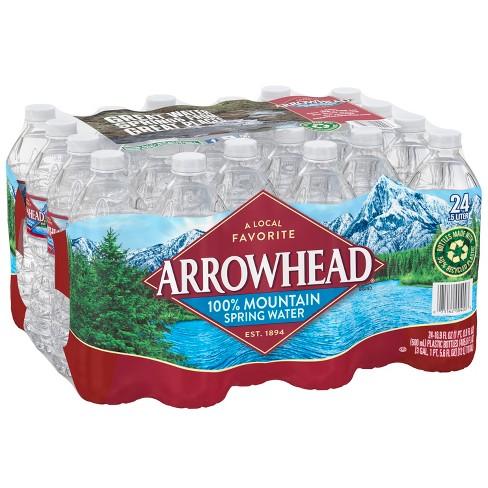Arrowhead Brand 100% Mountain Spring Water - 24pk/16.9 fl oz Bottles - image 1 of 4