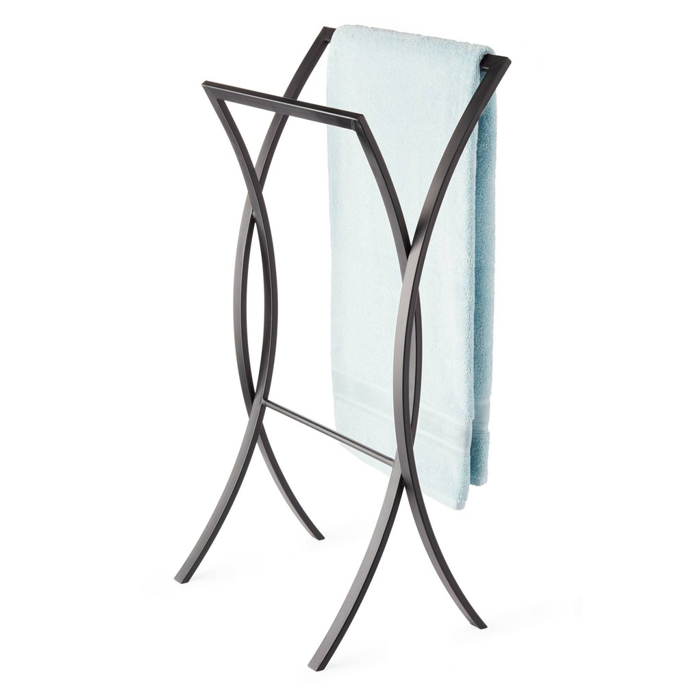 Image of Onda Double Towel Stand Matte Black - Better Living Products