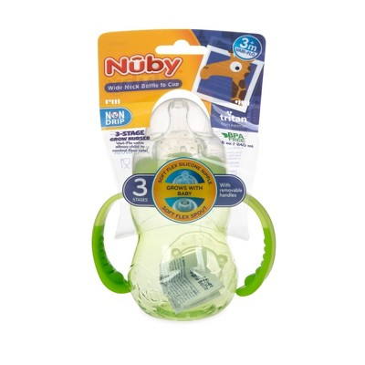 Nuby 3-Stage Trainer Cup - Green - 8oz